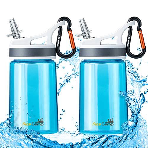 Eastman Tritan Kinder-Wasserflasche, BPA-frei, Sport-Trinkflasche, 370 ml, tragbar, auslaufsicher, 2 Stück