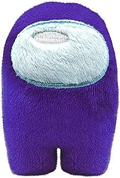 Among Us Plush Game Toys | Soft Stuffed Animals Imposter Plush Squeak Plushie Figure 4inch  Purple