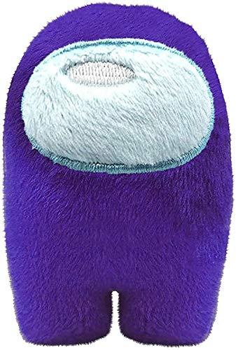 Among Us Plush Game Toys | Soft Stuffed Animals Imposter Plush Squeak Plushie Figure 4inch - Purple