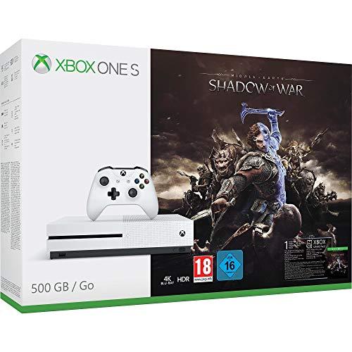 Pack Console Xbox One S 500Go avec L'Ombre de la Guerre