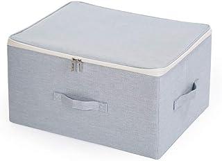 Boîte De Rangement De Grande Capacité Panier De Rangement Pour Penderie En Tissu Avec Couvercle Boîte De Rangement Pliable...