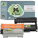 The Bubbli Original   DR-2200 TN-2220/TN-2010 Unidad de Tambor   2 Tóners Compatibles para Brother HL-2250DN 2130 HL-2270DW MFC-7360N HL-2135W DCP-7055W HL-2240 MFC-7860DW DCP-7065DN HL-2240D, 2-Pack