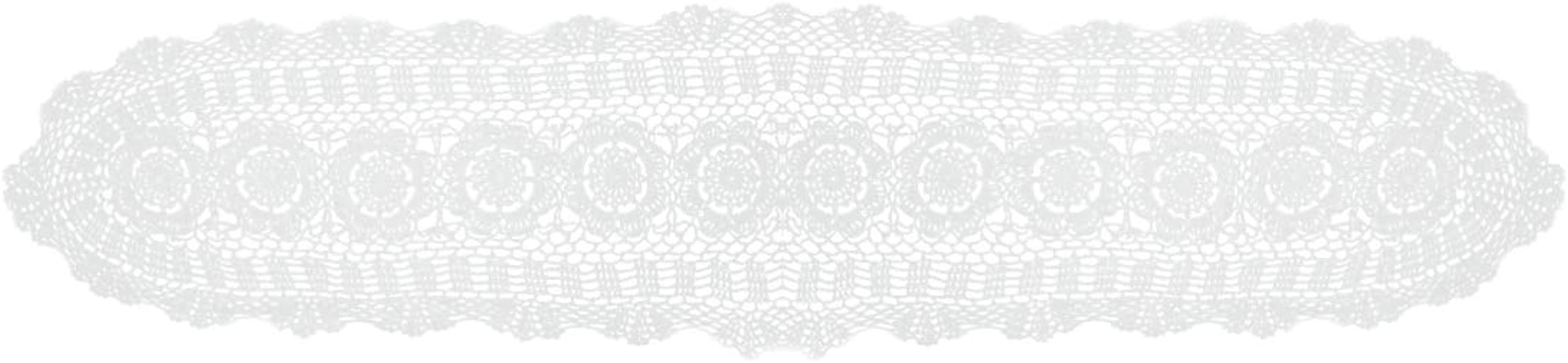 Kilofly Handmade Crochet Lace Rectangular Table Runner 11 X 43 Inch White