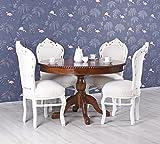 Unbekannt Tisch rund Mahagonitisch Esstisch Massivholz Esszimmertisch Chippendale Palazzo Exklusiv