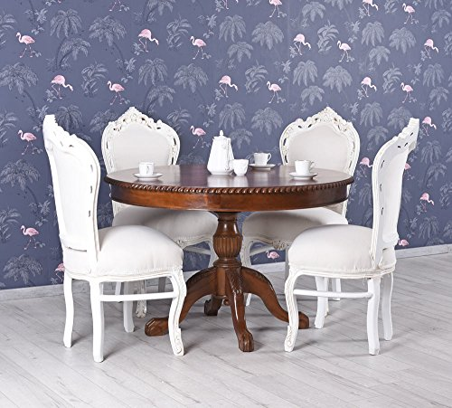 Unbekannt–Mesa redonda caoba madera maciza comedor mesa Chippendale Palazzo Exklusiv