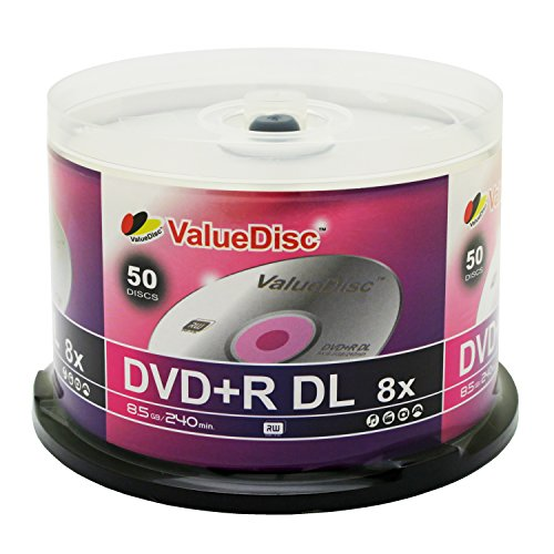 Value Disc Double Layer DVD+R 50pk in Spindle (cake box)