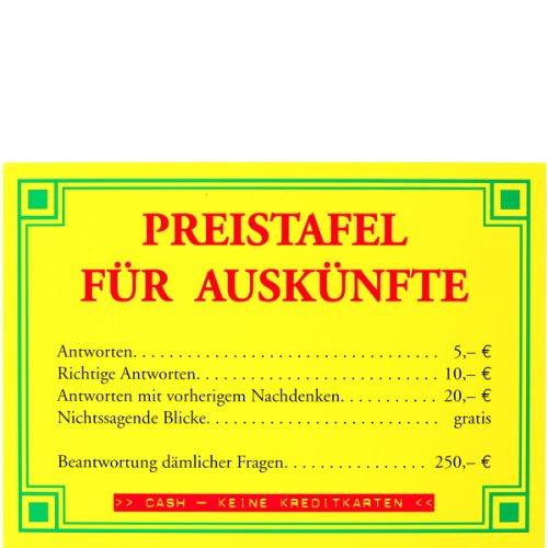 Postkarte A6 +++ LUSTIG von modern times +++ PREISTAFEL FÜR AUSKÜNFTE +++ ECKI DESIGN