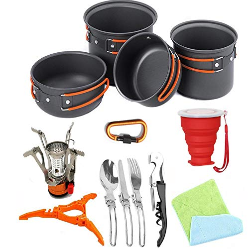Yuzhijie outdoor products picnic barbecue portable folding set pot