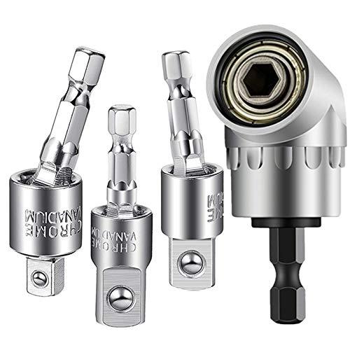 GUYINOYI 3pcs impact socket adapter set, 360°Rotatable Hex Shank...