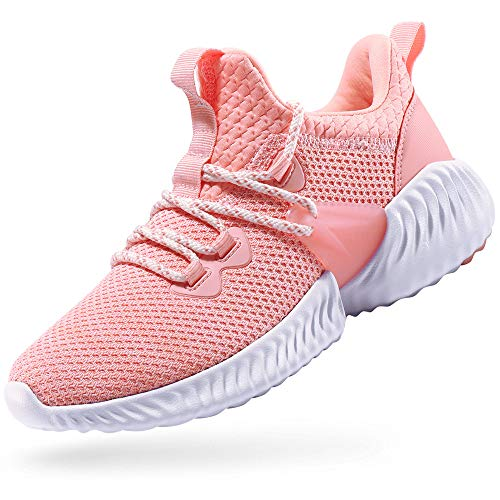 CAMEL CROWN Trail Running Shoes Non Slip Lightweight Casual Fashion Sneakers Sports Athletic Gym Walking Shoes for Women Pink 9.5B(M) US