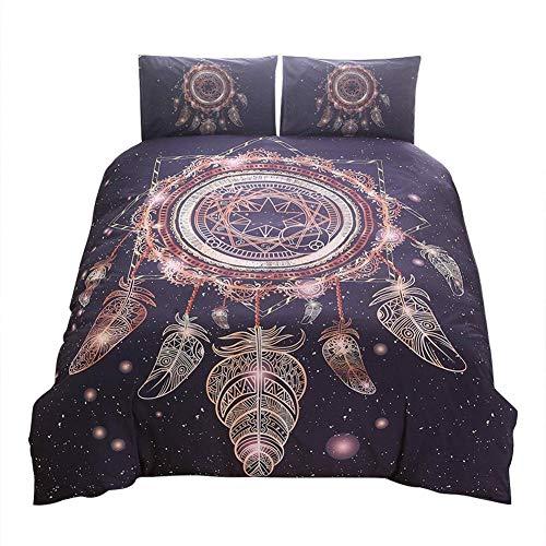 Juego de funda de edredón con diseño de atrapasueños de constelación (completo)