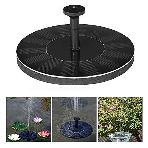 Festnight Solar Springbrunnen, Brushless Pumpe Kit mit 4 Brunnen D¨¹se, 7 V / 1.4W Maximale Wasserh?he 45cm