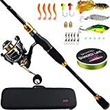 Best Spinning Rods - Sougayilang Spinning Fishing Rod Reel Combos,24-Ton Carbon Fiber Review