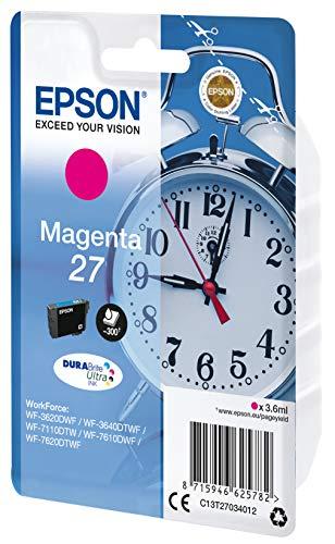 Epson Original 27 Tinte Wecker, Magenta