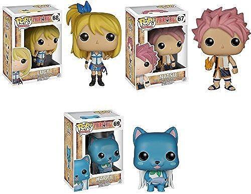 toma Fairy Tail Lucy, Natsu and Happy Pop Pop Pop  Vinyl Figures Set of 3 by Fairy Tail  precios mas baratos