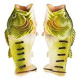 SPRALLA Fischlatschen Hausschuhe, Grün - Größe: 44-45 EU