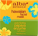 Alba Botanica Hawaiian, Papaya Enzyme Facial Mask, 3 Ounce (Pack of 2)
