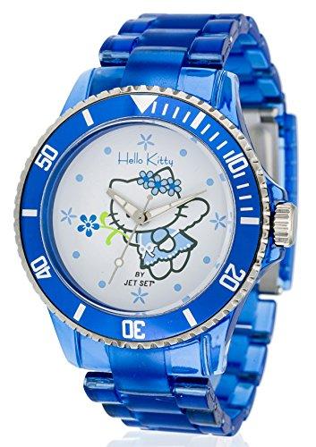 Jet Set OBI Blue - Reloj de Cuarzo para niña, con Correa de plástico, Color Azul