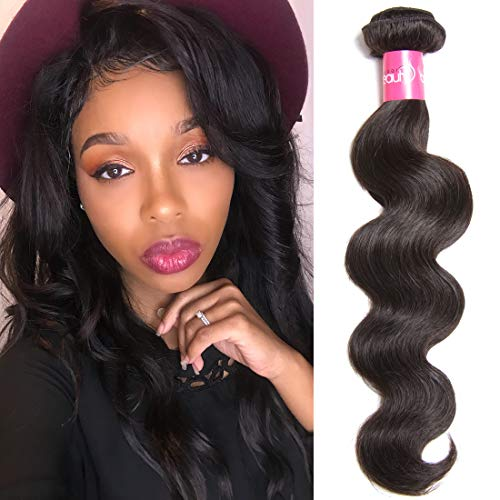 Longqi Beauty Hair Body Wave Bundles 18 Inch Brailian Hair Human hair Bundles Cheap Remy Virgin Hair Extensions Hair Bundles Natural Color(18inch, Hair Bundle)