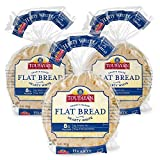 Toufayan Bakery, White Mediterranean Flat Bread Pita Bread for Gyros, Sandwiches, Paninis, Dip and Snacks, Cholesterol Free and No Trans Fats (Hearty White, 3 Pack)