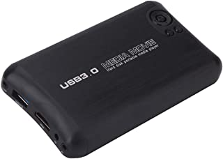 Player Player HDMI 1080P USB3.0 U Disk Video Play Box with Built-in Mediaplayer, US Plug(Black) (Color : Black)