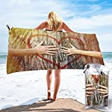Toalla Playa de Secado rápidoPareja Tocando el corazón en la luz del Sol Toallas de baño absorbentes para el baño Nadar Piscina Yoga Viajes