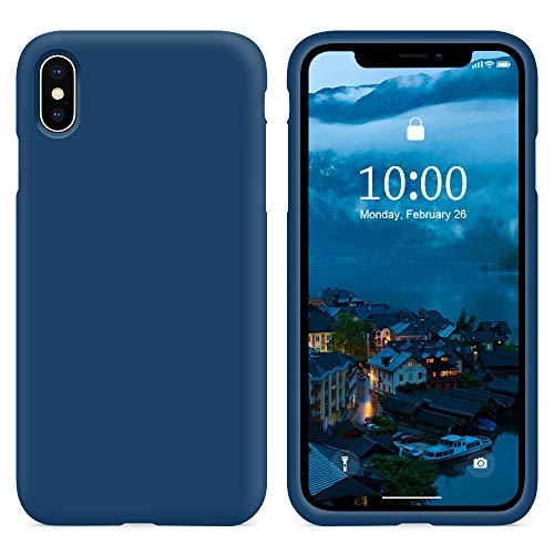 SURPHY Cover Compatibile con iPhone XS, Cover Compatibile con iPhone X, Custodia per iPhone X XS Silicone Cover Antiurto con Fodera in Microfibra Full Body Case per iPhoneX XS 5.8
