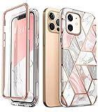 i-Blason Funda 6.1 inch iPhone 12 /iPhone 12 Pro [Cosmo] 360 Carcasa con Protector de Pantalla Integrado Case Protector Compatible con iPhone 2020 6.1 inch - Mármol