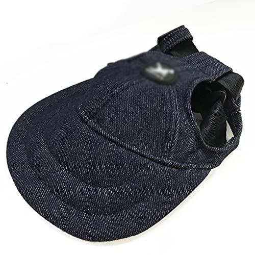 JYDQM Sombrero de Mascotas Casquillo de Lona de Verano Transpirable Sunhat con Orificios para Orejas para Gran tamaño pequeño para Perros Béisbol Visor de Senderismo al Aire Libre
