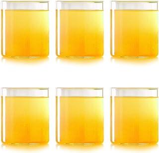 Borosil Vision Small Squat Glass, 205 ml+_20 ml, Set of 6
