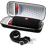 Tasche für JBL Flip 5 4 Bluetooth Box -Lautsprecher und Kabel + Zubehör - Schwarz