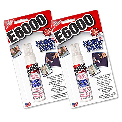 Fabri-Fuse E6000 Textilkleber, transparent, Klebstoff für Jeansleder, Spitzenband, Filz, Gummi, 2 Stück