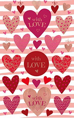 Avery Zweckform 26 Deko Sticker Herzen (Aufkleber, Geschenke, Karten, Geburtstag, Liebe, Glückwünsche, Feier, Party) Art. 57074