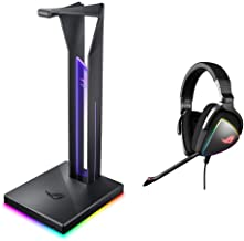 ASUS ROG Throne Qi Gaming Headset Stand & ROG Delta USB-C Gaming Headset for PC, Mac, Playstation 4, Teamspeak, and Discor...