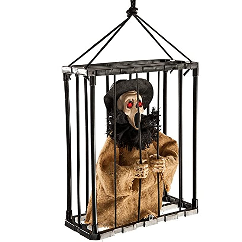 Carnival Toys 8989?–?Screaming Ghost in Cage of App with Bright Eyes, Sound and Movement, 30?cm, Multi-Colour