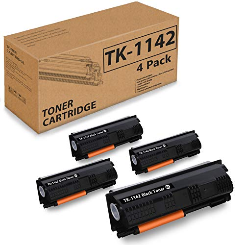 (Black 4 Pack) Compatible Toner Cartridge Replacement for Kyocera TK-1142 TK1142 1T02ML0US0 for FS-1035MFP, 1135MFP, M2035dn, M2535dn Printer