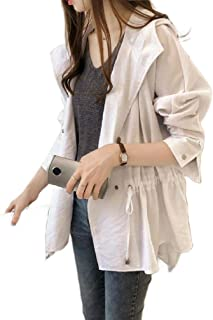 Howely Women's Cardigan Baggy Hoode Jackets Double Breasted Trenchcoat