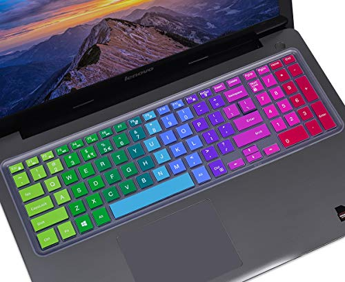 Colorful Keyboard Cover for 15.6' Dell Inspiron 15 3000 5000 7000 Series,15.6' Dell G3 G5 G7 Series, 17.3' Dell Inspiron 17 5000 Series, 17.3' Dell G3 Series Keyboard Skin(with Numeric Keypad),Rainbow