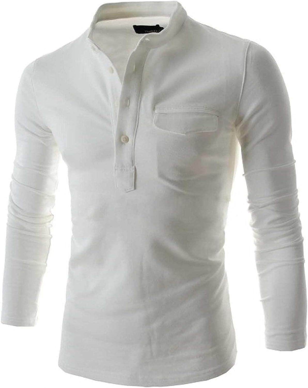 KEEYO Men Linen Henley Shirts V-Neck Long Sleeve Beach Yoga Summer Lightweight Cotton Shirt Banded Collar Tops