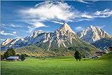 Poster 100 x 70 cm: Watzmann Massiv von Ehrwald in Tirol