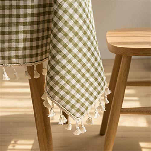 DJUX Mantel de Tela Escocesa Multicolor de Lino de algodón de poliéster Mantel de Mantel Rectangular Mantel de Lino de algodón para el hogar Picnic 100x135cm