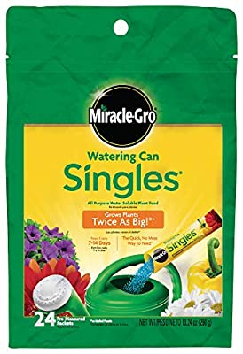 Miracle-Gro Watering Can Singles, Water Soluble Plant Food
