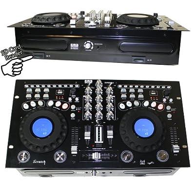 EMB - EB9005MX - NEW Professional DUAL CD/USB/SD/MP3 Mixer CDJ Scratch Player! from EMB