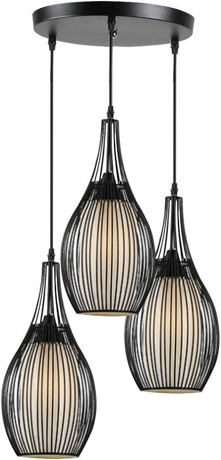 YGCBL Lamp 3 shipfree Lights Round Chandelier Black Industrial Challenge the lowest price of Japan ☆