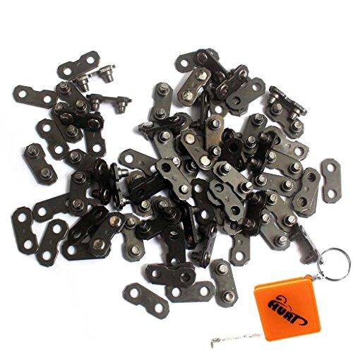 HURI 50 x Verbindungsglieder + Nieten 3/8 1,3mm für Motorsäge Sägekette kettensäge Kette