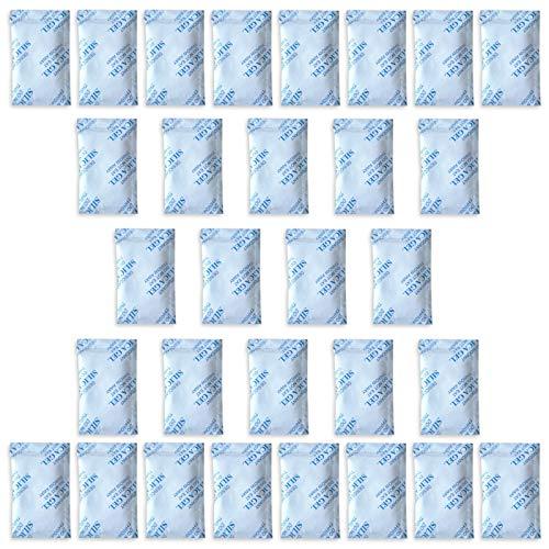 E-Cron Confezioni da 30 bustine da 10 gr. di Gel di silice Tyvek. Bustine essiccanti di Gel di silice Puro, affidabile e Riutilizzabile. Sacchetti deumidificanti rinnovabili – Assorbono l'umidità