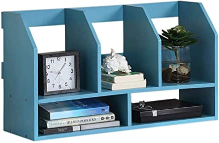NILINFAN Creative Bookshelf - Desktop Storage Storage Rack File Storage Rack Student Computer Flower Stand Table