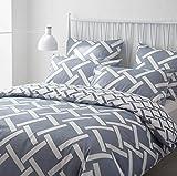 AYA Sets de Housse de Couettes 220x240cm + 2taies d'oreillers 65x65cm Parure de lit...