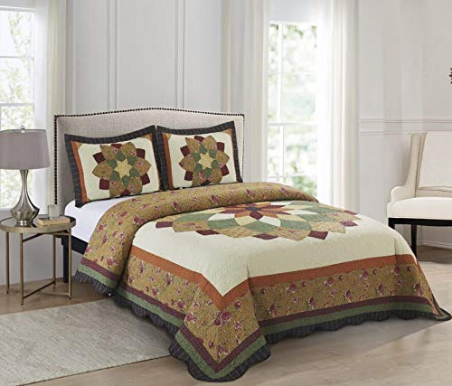 %21 OFF! Hamilton Hall 24381904BDS-MUL Barstowe Bedspread44; King