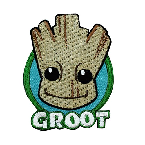 Groot Guardians of The Galaxy Baby Face Patch Marvel Movie IronOn Applique